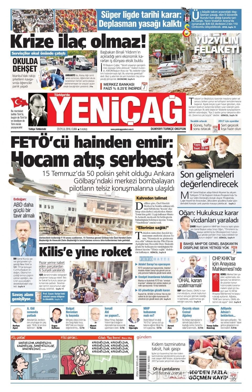 23 Eylül Cuma gazete manşetleri 14