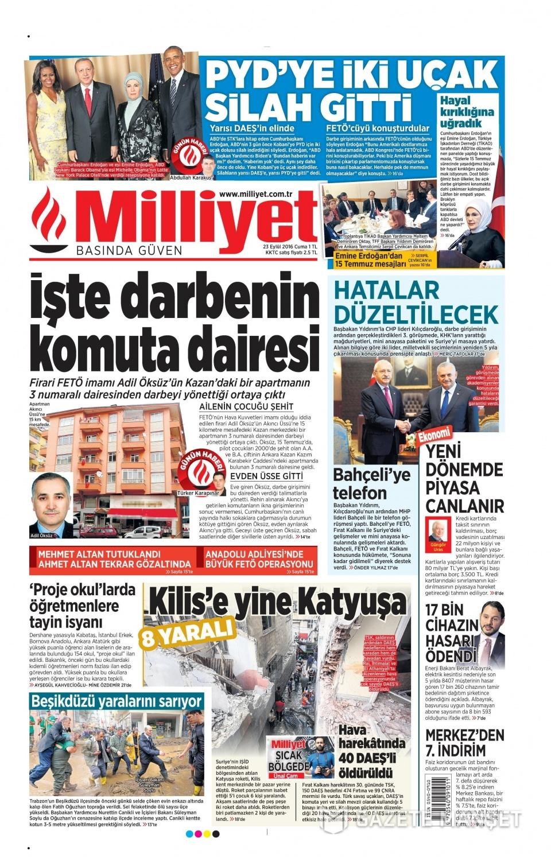 23 Eylül Cuma gazete manşetleri 2