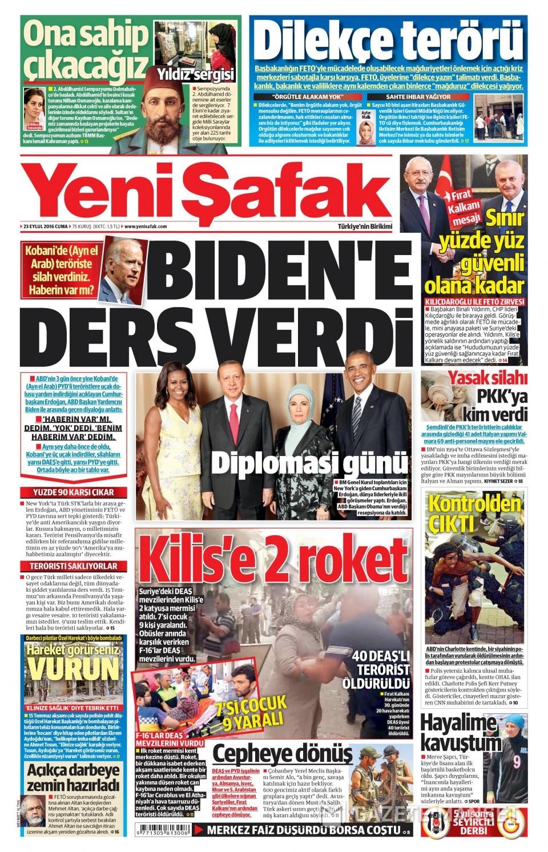 23 Eylül Cuma gazete manşetleri 21
