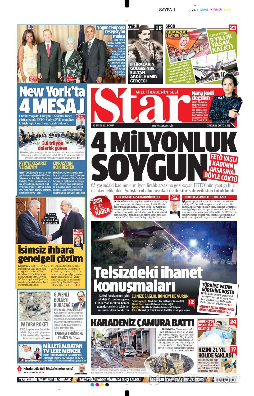 23 Eylül Cuma gazete manşetleri 3