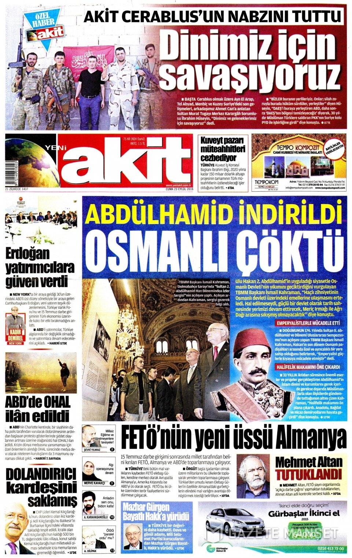 23 Eylül Cuma gazete manşetleri 4