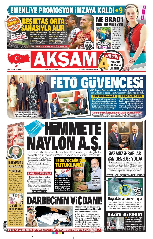 23 Eylül Cuma gazete manşetleri 6