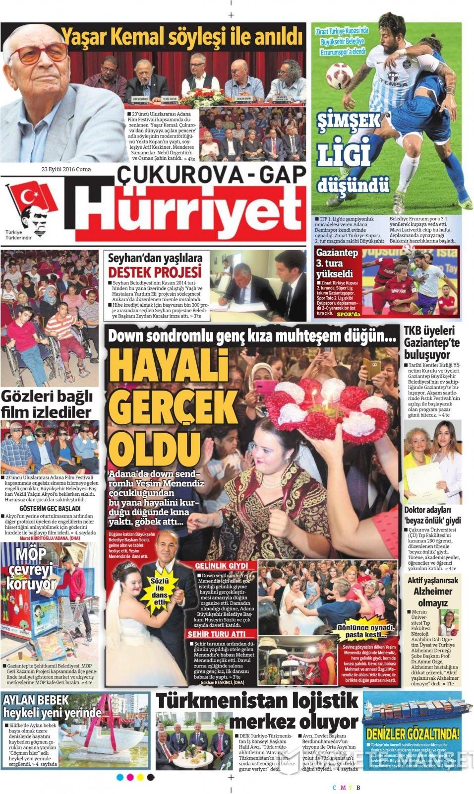 23 Eylül Cuma gazete manşetleri 7