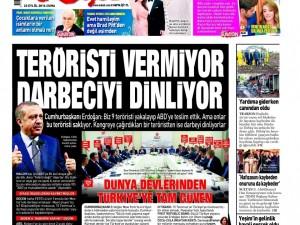 23 Eylül Cuma gazete manşetleri