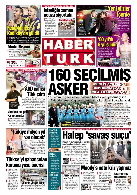 26 Eylül Pazartesi gazete manşetleri 10