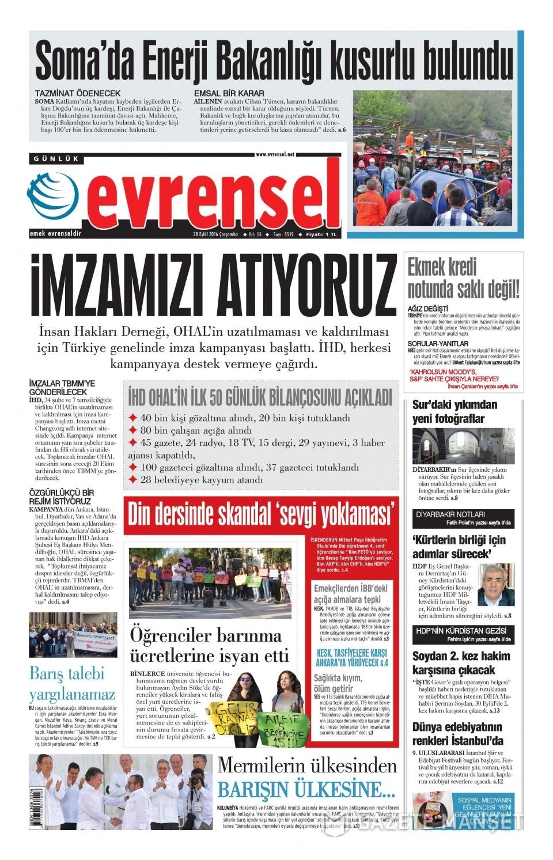 28 Eylül Çarşamba gazete manşetleri 21
