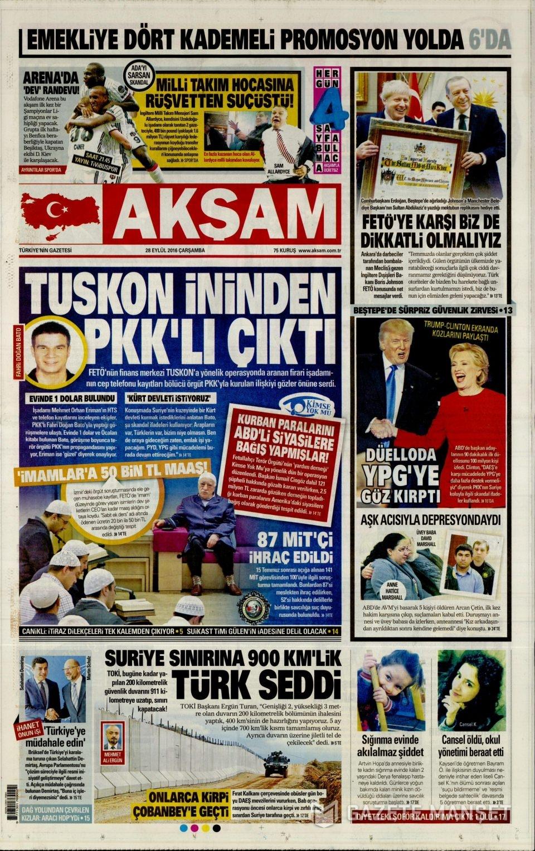 28 Eylül Çarşamba gazete manşetleri 4