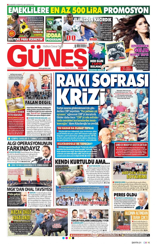 29 Eylül Perşembe gazete manşetleri 5