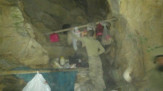 TSK paylaştı! PKK'nın tünellerine girildi 10