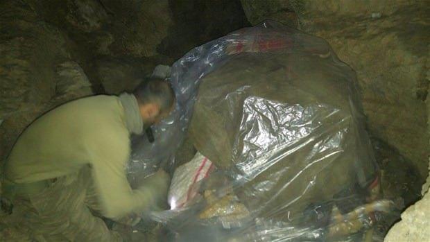 TSK paylaştı! PKK'nın tünellerine girildi 2