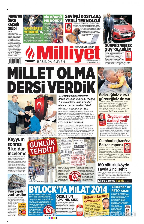 3 Ekim Pazartesi gazete manşetleri 12