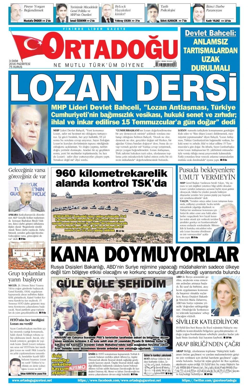 3 Ekim Pazartesi gazete manşetleri 14