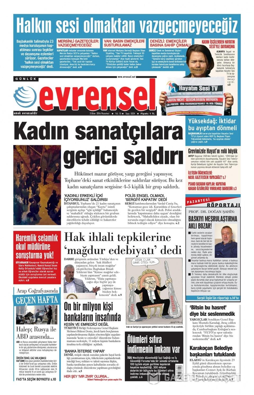 3 Ekim Pazartesi gazete manşetleri 19