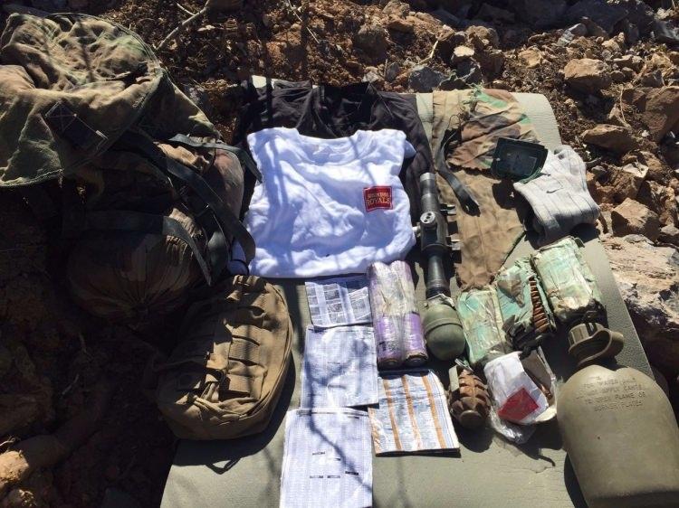 PKK'lılar silahlarını bırakıp kaçtı 1