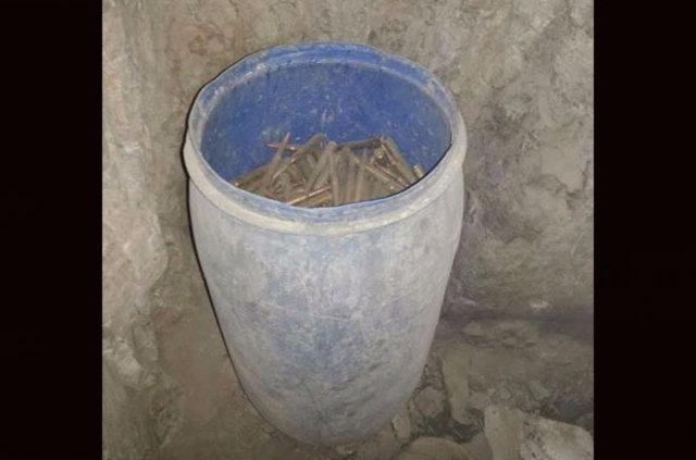 Mağara içerisinde cephanelik bulundu 11