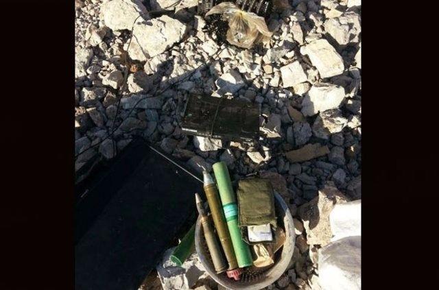 Mağara içerisinde cephanelik bulundu 9