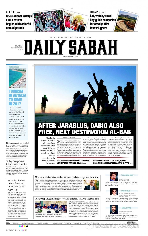 17 Ekim Pazartesi gazete manşetleri 29
