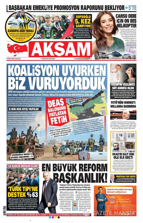 17 Ekim Pazartesi gazete manşetleri 6