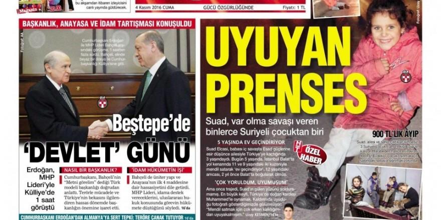 4 Kasım Cuma gazete manşetleri
