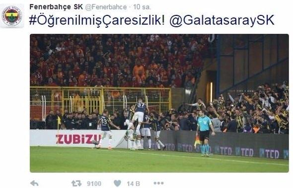 Fenerbahçe'den Galatasaray'a olay tweet! 1