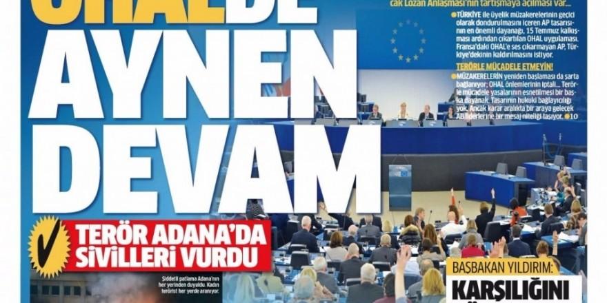 25 Kasım Cuma Gazete Manşetleri