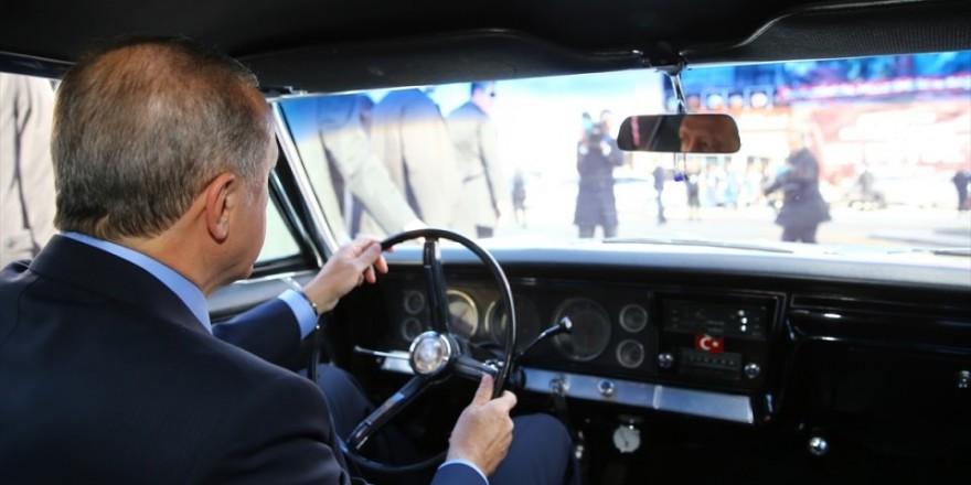 Cumhurbaşkanı Erdoğan direksiyona geçti