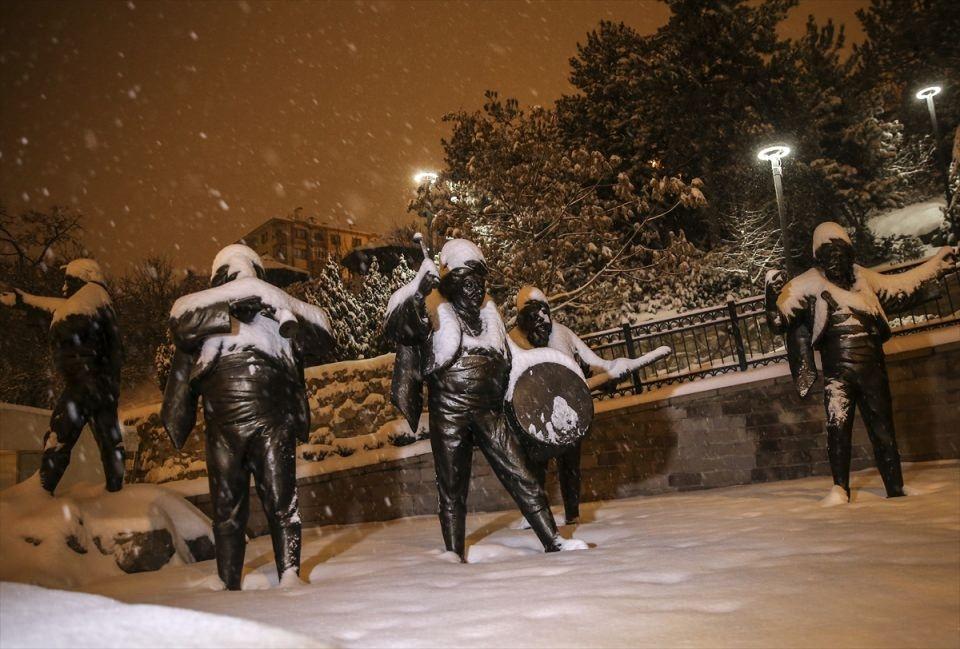 Türkiye'den muhteşem kar manzaraları 16