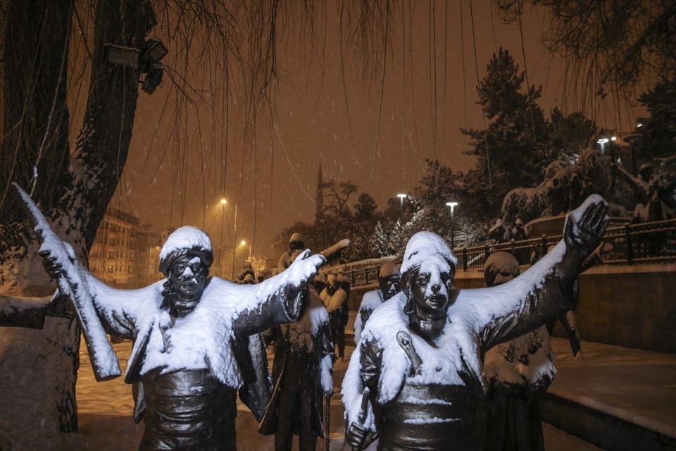 Türkiye'den muhteşem kar manzaraları 17
