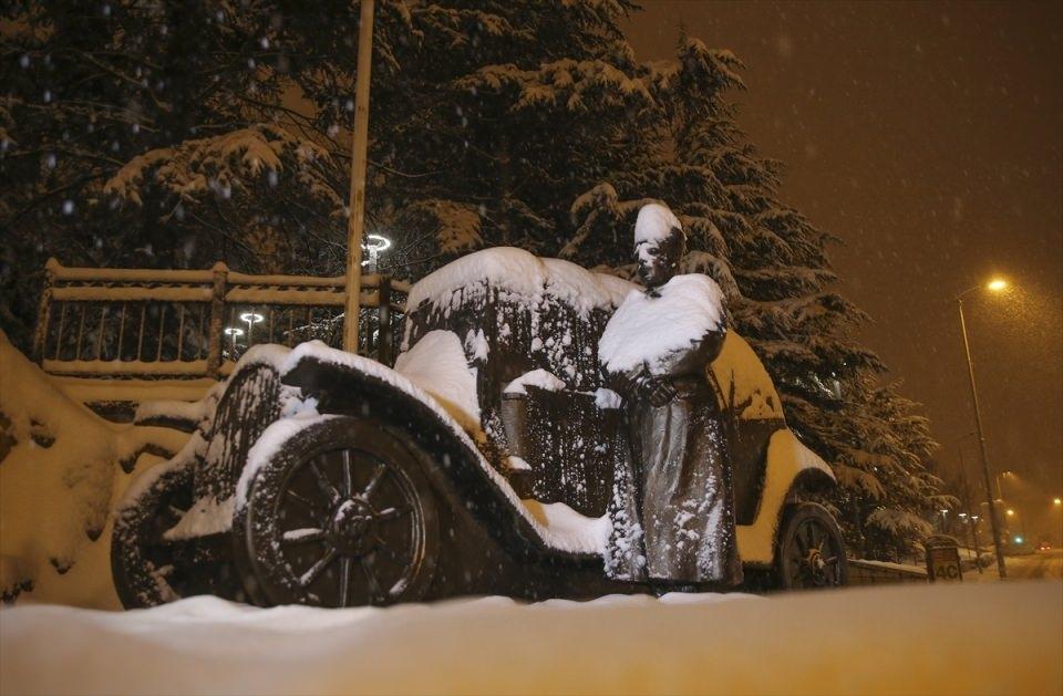 Türkiye'den muhteşem kar manzaraları 19