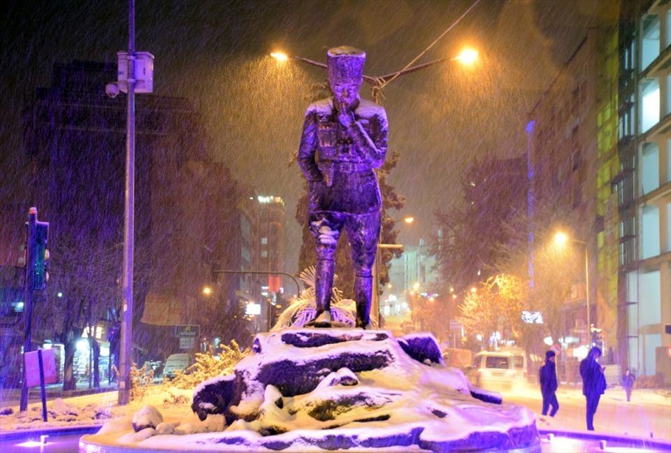 Türkiye'den muhteşem kar manzaraları 34