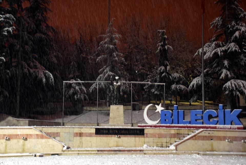 Türkiye'den muhteşem kar manzaraları 35