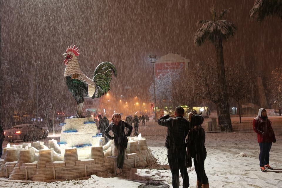 Türkiye'den muhteşem kar manzaraları 42