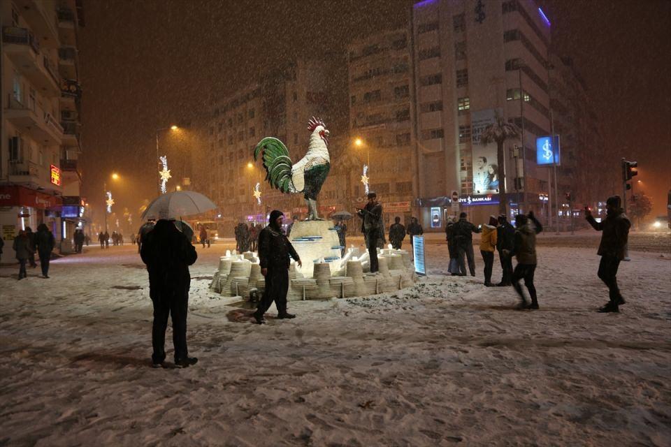 Türkiye'den muhteşem kar manzaraları 45
