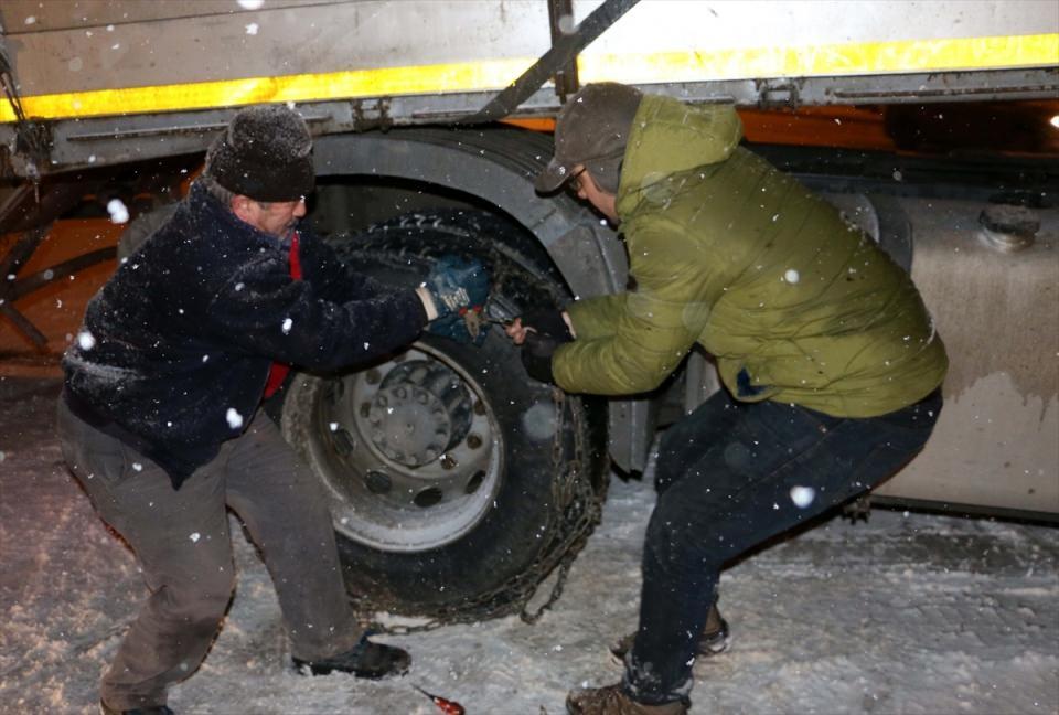 Türkiye'den muhteşem kar manzaraları 56