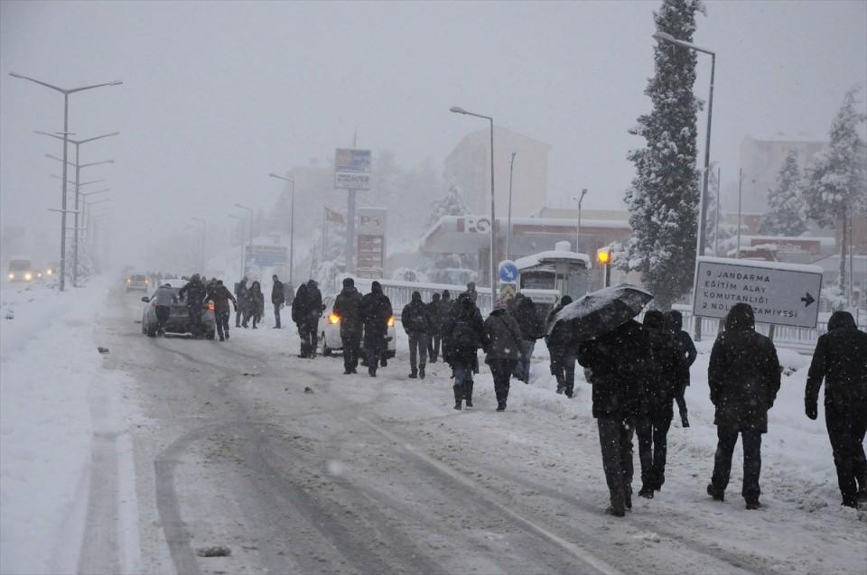 Türkiye'den kar manzaraları 81