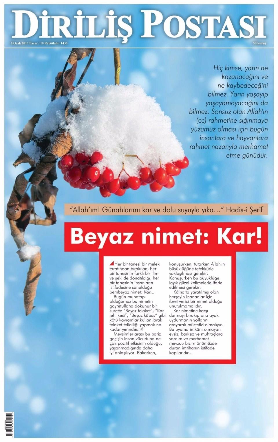 8 Ocak Pazar Gazete Manşetleri 21