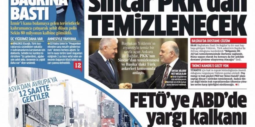 8 Ocak Pazar Gazete Manşetleri