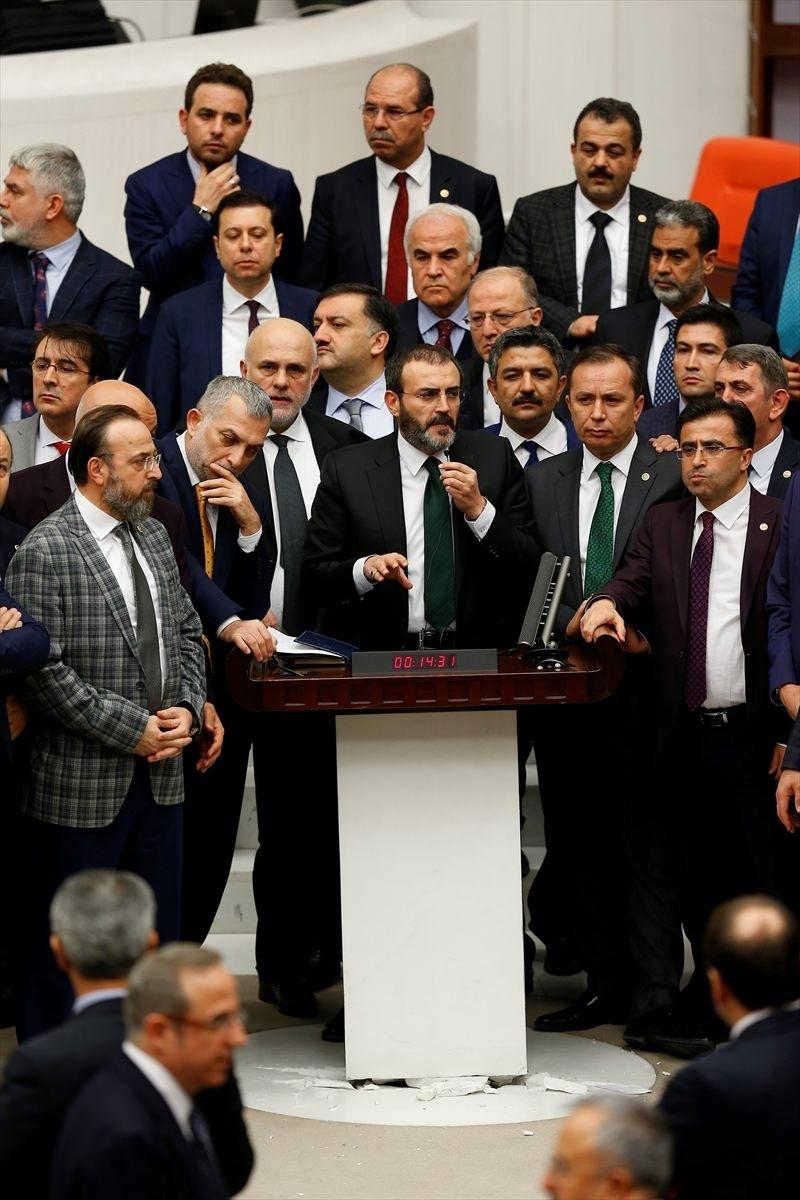Meclis'te yaşanan kavganın fotoğrafları 60