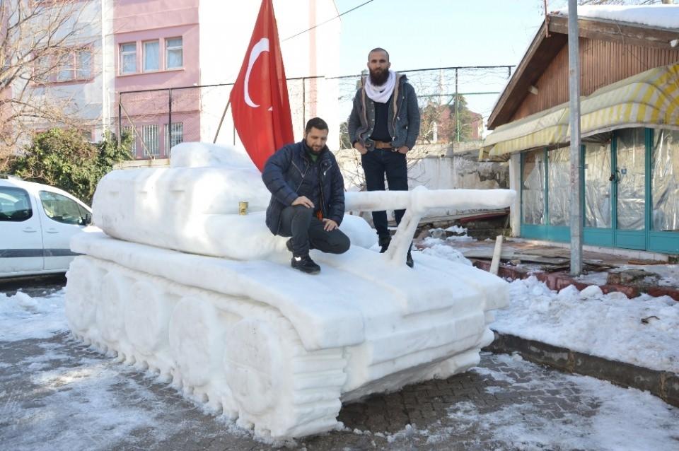 15 Temmuz'a özel 'Kardan Tank' yaptılar 1
