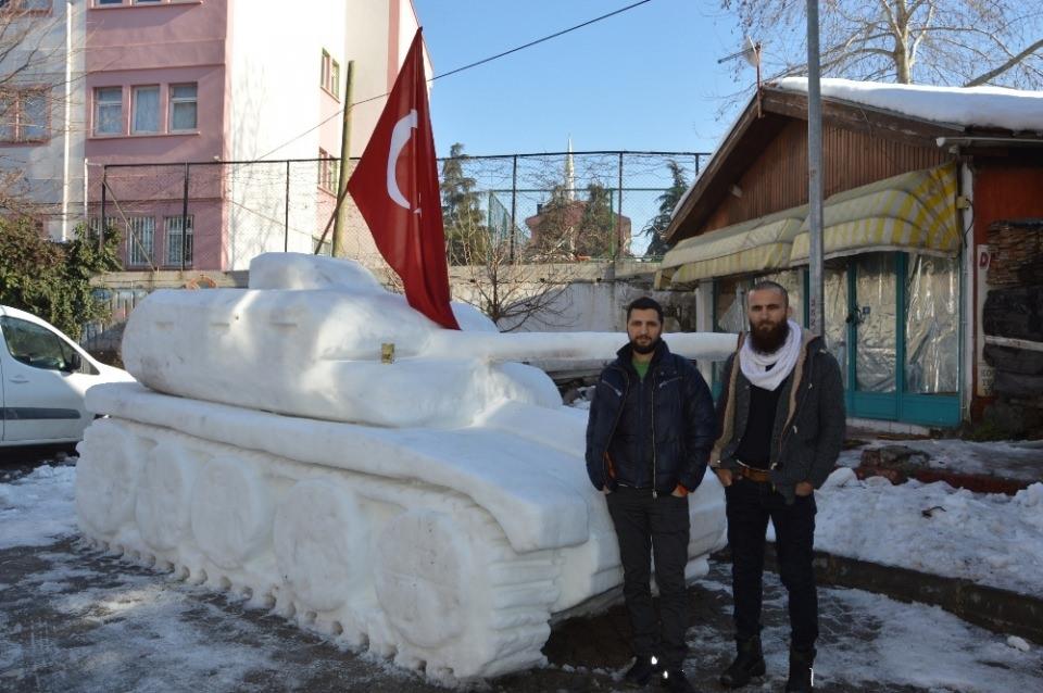 15 Temmuz'a özel 'Kardan Tank' yaptılar 5
