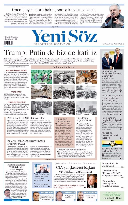 6 Şubat Pazartesi Gazete Manşetleri 22