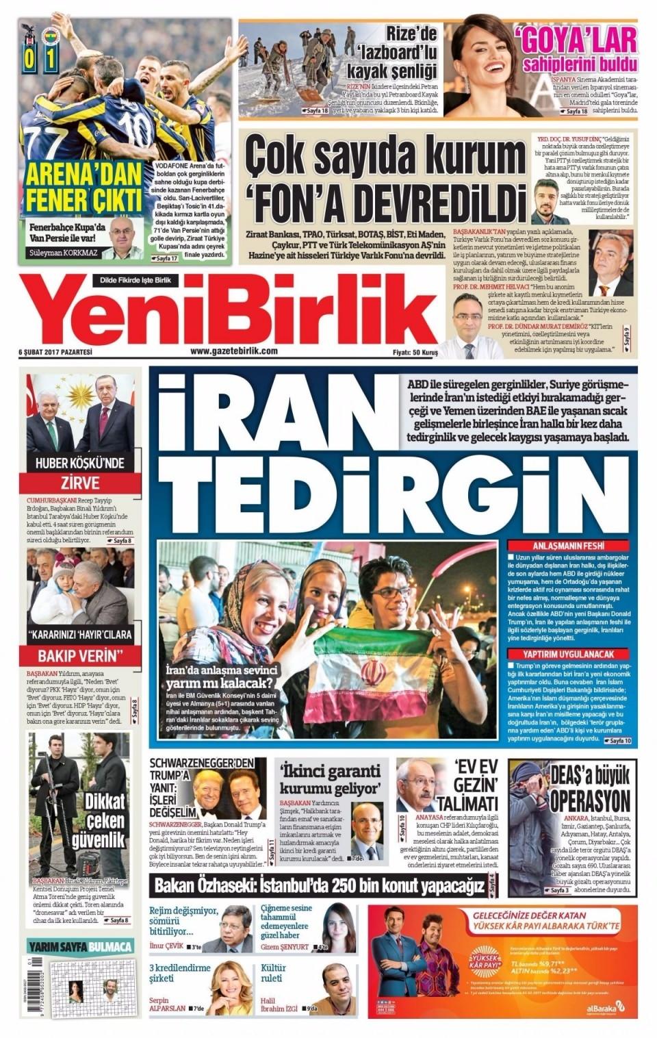 6 Şubat Pazartesi Gazete Manşetleri 24