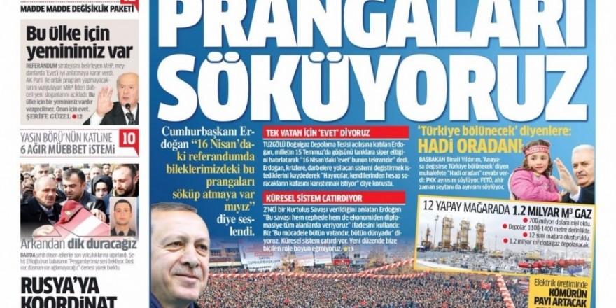 11 Şubat Cumartesi Gazete Manşetleri
