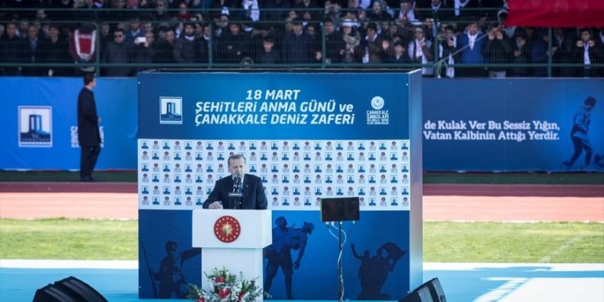 Cumhurbaşkanı Erdoğan, 18 Mart Stadyumu'nda