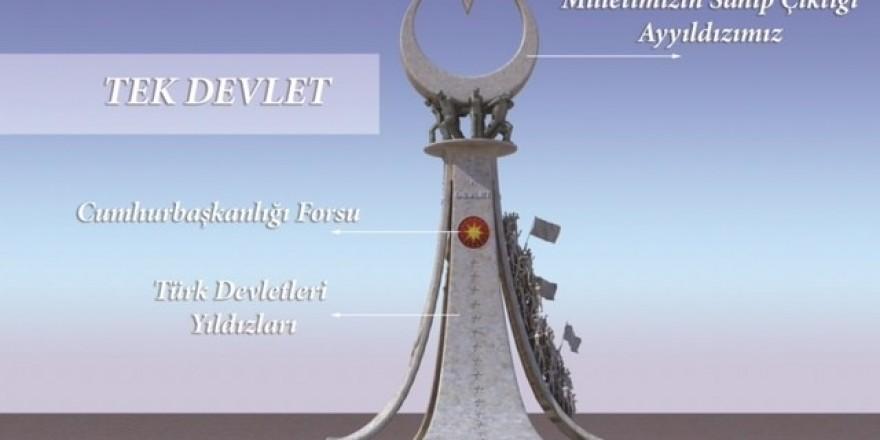 Cumhurbaşkanlığı, 15 Temmuz Şehitler Abidesi'nin mimari bilgilerini
