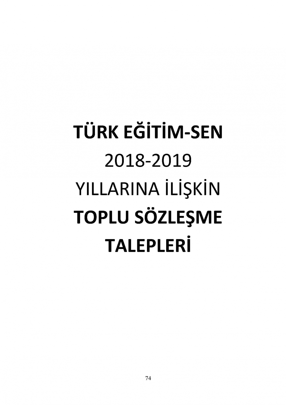 Türk Eğitim-Sen Toplu Sözleşme Talepleri - MEB-YÖK-KREDİ YURTLAR 1