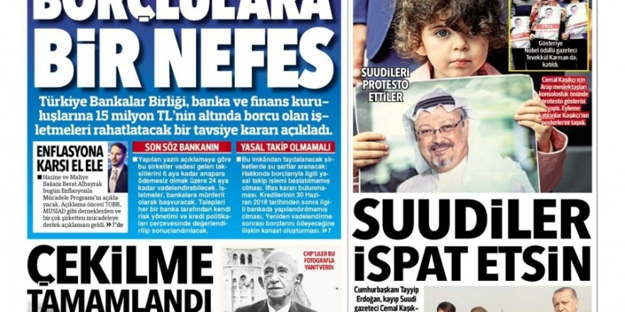 9 Ekim gazete manşetleri