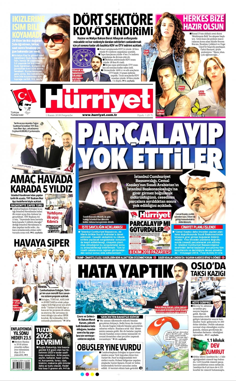 1 Kasım gazete manşetleri 1