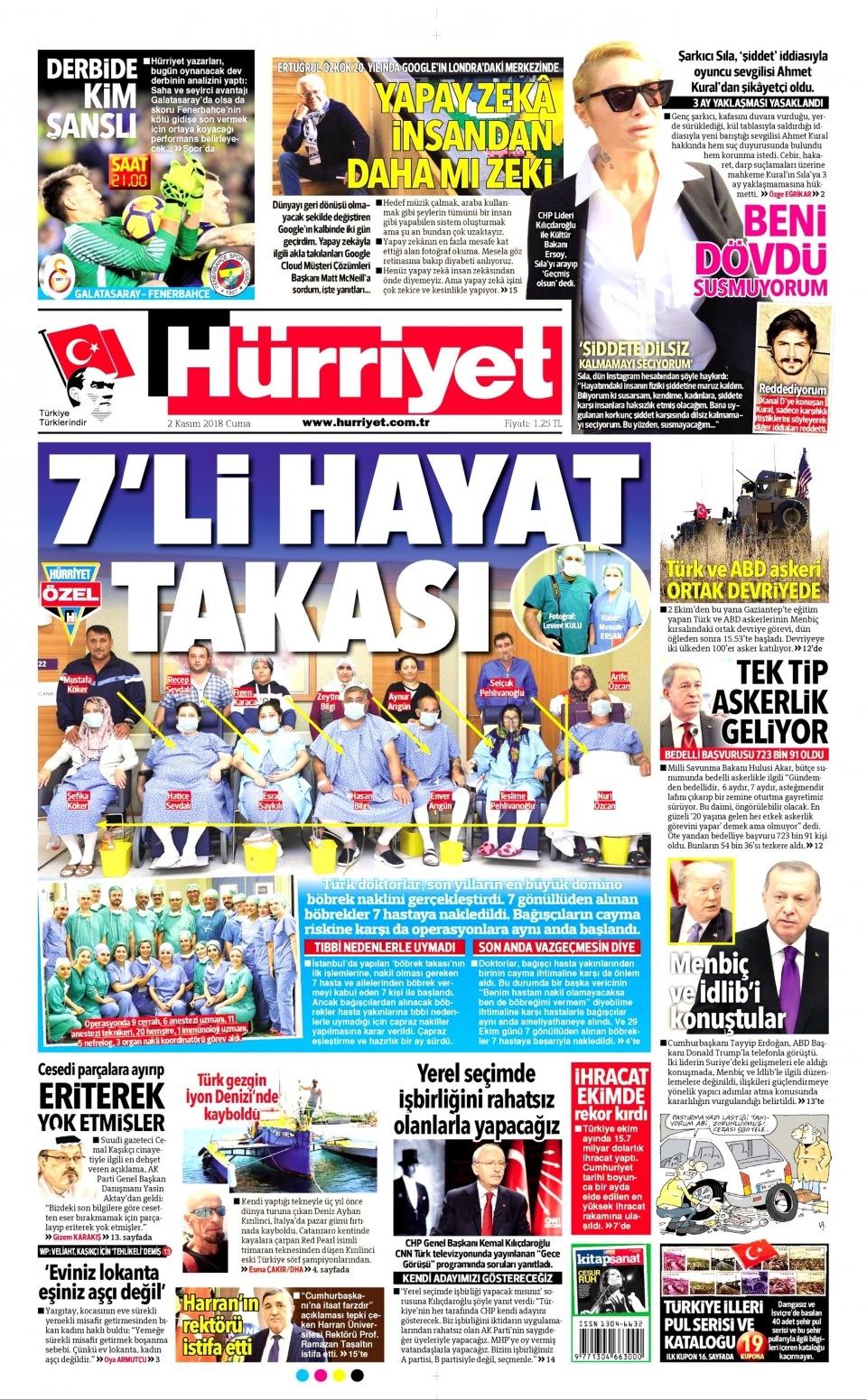 2 Kasım gazete manşetleri 1