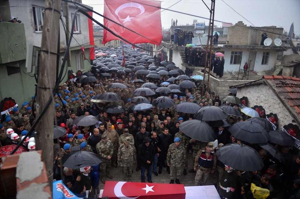Türkiye İdlib şehitlerini uğurluyor 1